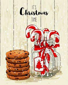 Christmas Mood, Noel Christmas, Christmas Paper, Christmas Wishes, Christmas Pictures, Christmas Crafts, Christmas Decorations, Watercolor Christmas Cards, Christmas Drawing