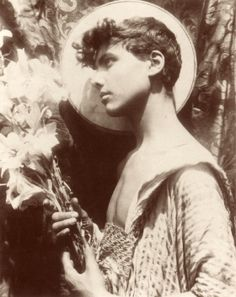 Youth with Flowers. Wilhelm von. Gloeden