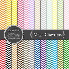 Chevrons Digital Paper