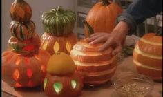 Watch as Martha Stewart introduces Frank Way and John Hansen who share how to carve pumpkins and which tools work best.