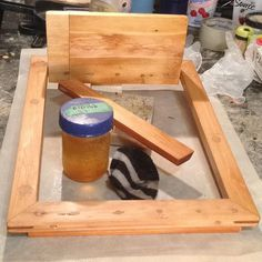 First coat of BLO on my French cleat frame/shelf/hanger made with a lot of scraps and dowels! #woodworking #frame #design #display #frenchcleat #diy #vancouverdesigner