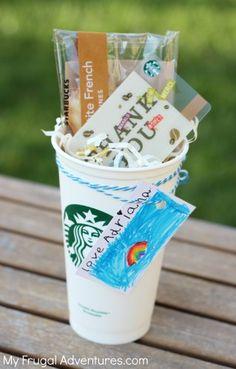 Teacher Gift idea: Starbucks Gift Cards