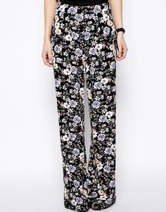 ASOS | ASOS Floral Printed Wide Leg Pants at ASOS