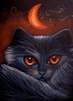 """Fantasy Halloween Black Cat"" par Cyra R. Cancel"