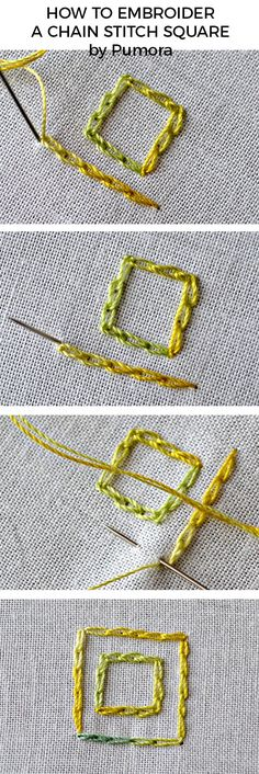 How to embroider neat chain stitch edges tutorial