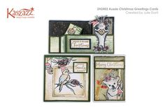 Projects Gallery - 2H2403 Aussie Christmas Greetings Cards - Kaszazz Christmas Quotes Images, Merry Christmas Quotes, Christmas Greeting Cards, Christmas Greetings, Aussie Christmas, Distress Oxide Ink, You Gave Up, Cardmaking, Create