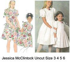 Simplicity 7462 Jessica McClintock Pattern Girl's  Dress Uncut Size 3 4 5 6