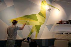 Bird Murals - Zizzi Cardiff by Tobias Hall, via Behance