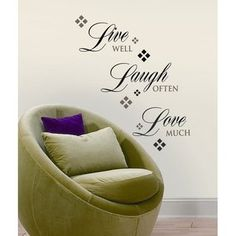 Room Mates Live, Love, Laugh Peel and Stick Wall Decal