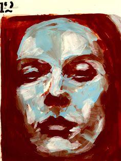 DIARY - acrylic portrait - 12.4.2017 - by W.DECHANT