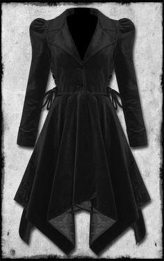 Goth Steampunk Velvet Maven Coat - I need this...