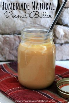 Homemade Natural Peanut Butter Recipe #advocare #recipe