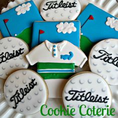 Golf Themed Decorated Cookies Golfer Birthday by CookieCoterie, $32.00