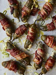 Bacon Wrapped Smokies, Bacon Wrapped Jalapenos, Stuffed Jalapeno Peppers, Jamie Oliver, Friday Night Feast, Bbq, Jalapeno Recipes, Dinner Party Menu, Easy Party Food