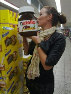 """King Size Nutella of the Day: Or, as I like to call it, """"Single-Serving Size."""""""