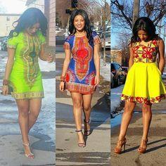 Dashiki African Print Dress ~African fashion, Ankara, kitenge, African women dresses, African prints, African men's fashion, Nigerian style, Ghanaian fashion ~DKK