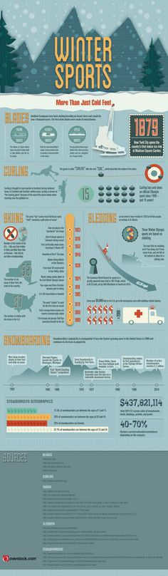 Make this Winter Count! A Winter Sports Infographic from Overstock.com