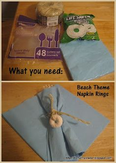 Beach Theme Napkin Rings
