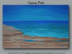 Seascape painting Canvas print Beach decor Ocean by ArtFromDenise