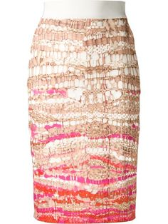 Shop Altuzarra weave print pencil skirt in Hirshleifers from the world's best independent boutiques at farfetch.com. Over 1000 designers from 60 boutiques in one website.
