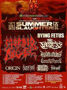 Summer Slaughter 2014 Dates Announced