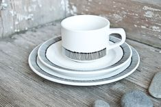 Christmas Gift Handpainted cup saucer and by RoomforEmptiness, €55.00