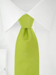 Limettenfarbene 7 Fold Krawatte