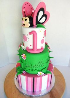 Butterfly Themed birthday cake