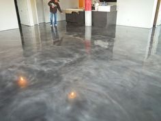 stained concrete floors...Grey