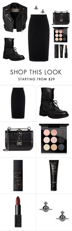 """""""rock star"""" by etheriz-ed ❤ liked on Polyvore featuring Raoul, Burberry, Steve Madden, Valentino, MAC Cosmetics, NARS Cosmetics and Vivienne Westwood"""