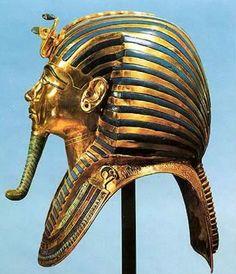 From King Tutankhamun's tomb....Gold Death Mask of Tutankhamun
