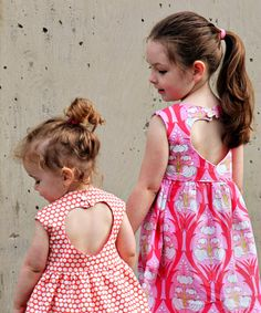 Sweetheart Dress with heart cutout sewing pattern by luvinthemommyhood (Very shannon) | The best sewing patterns for women, girls, toys and more. Go To Patterns & Co.