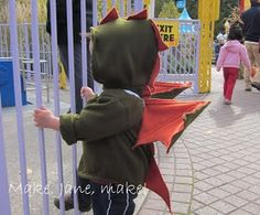 DIY Dragon Costume/Hoodie - Caleb's Halloween Costume
