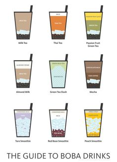 Boba tea drink recipes!                                                                                                                                                                                 More