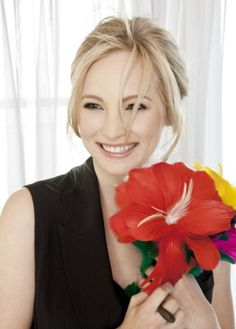 Flowers and Look at her Smile ,,, Candice Accola ,,, Loads of Adorance ....
