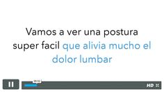 Video cortito con una postura super facil para el dolor lumbar. https://callateyhazyoga.com/blog/yoga-dolor-lumbar-video/ #yoga #yogaencasa #asanas #callateyhazyoga