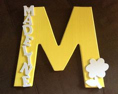 Kid's Name Sign - hang on the wall or on the door to show who's room it is!  Made of wood and 12 inches tall.   Purchase a name sign at Etsy, or make your own by following the how-to at www.thecraftymom.blog.com