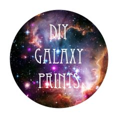#DIY galaxy prints by makingmondays - I'm putting this under Astronomy for  now, even though it's a craft...