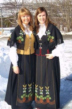 FolkCostume&Embroidery: Overview of Norwegian costume, part 4 The North Norwegian People, Norwegian Clothing, Costumes Around The World, Folk Clothing, Looking Gorgeous, Beautiful, Folk Costume, Cute Designs, Norway