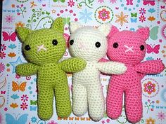 This use to be a free pattern titled Sherbet kittens, and had since been updated to Pastel Kittens. Sorry the pattern is no longer free, you must purchase it now.