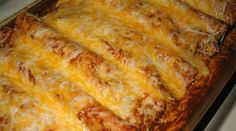 Recipe for Beef and Bean Enchiladas - They are snap to make and taste great. They were even good reheated for lunch the next day. I served this with some Mexican rice and chips and salsa. Food Recipes For Dinner, Food Recipes Deserts Bean Enchiladas, Mexican Enchiladas, Recipe For Enchiladas, Flour Tortilla Enchiladas, Mexican Burritos, Cream Cheese Enchiladas, Shredded Beef Enchiladas, How To Make Enchiladas, Slow Cooker Enchiladas