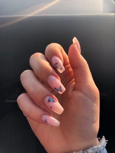 Acrylic Nails Coffin Ombre, Simple Acrylic Nails, Best Acrylic Nails, Summer Acrylic Nails, Simple Nails, Fire Nails, Minimalist Nails, Luxury Nails, Diamond Nails