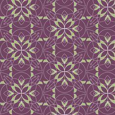 Geo flowers fabric by theboutiquestudio on Spoonflower - custom fabric
