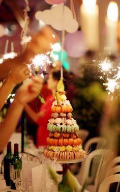 Happy Birthday Macaron Cake