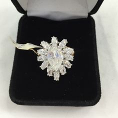 Beautiful GP CZ ring Size 6 GP with sparkly CZ Jewelry Rings