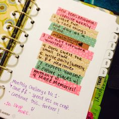 Resolutions! 2015~ I like how each is written on washi.