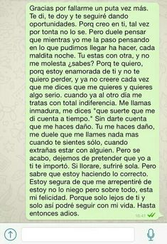 Gracias Sad Quotes, Love Quotes, Love Phrases, Sad Love, Spanish Quotes, Love Messages, It Hurts, Thoughts, Feelings