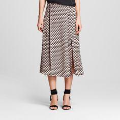 Women's Wrap Skirt Brown Diamond 10 - Who What Wear