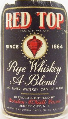 Red Top Rye 1940s Miniature Front Label   http://www.czajkus.friko.pl/Bourbon%20Baza/R/1.%20Red%20Top%20-%20Blended%20Rye%20Whiskey%20-%201940%27s/RedTopRye3.jpg