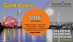 * 6 Nights & 7 Days – 2 Adults / Twin 4 Star * 6 Nights accommodation with breakfast * Choose Warner Bros. or Dream World Combo * Rental Car Sedan with Standard Insurance * Brisbane to Br…